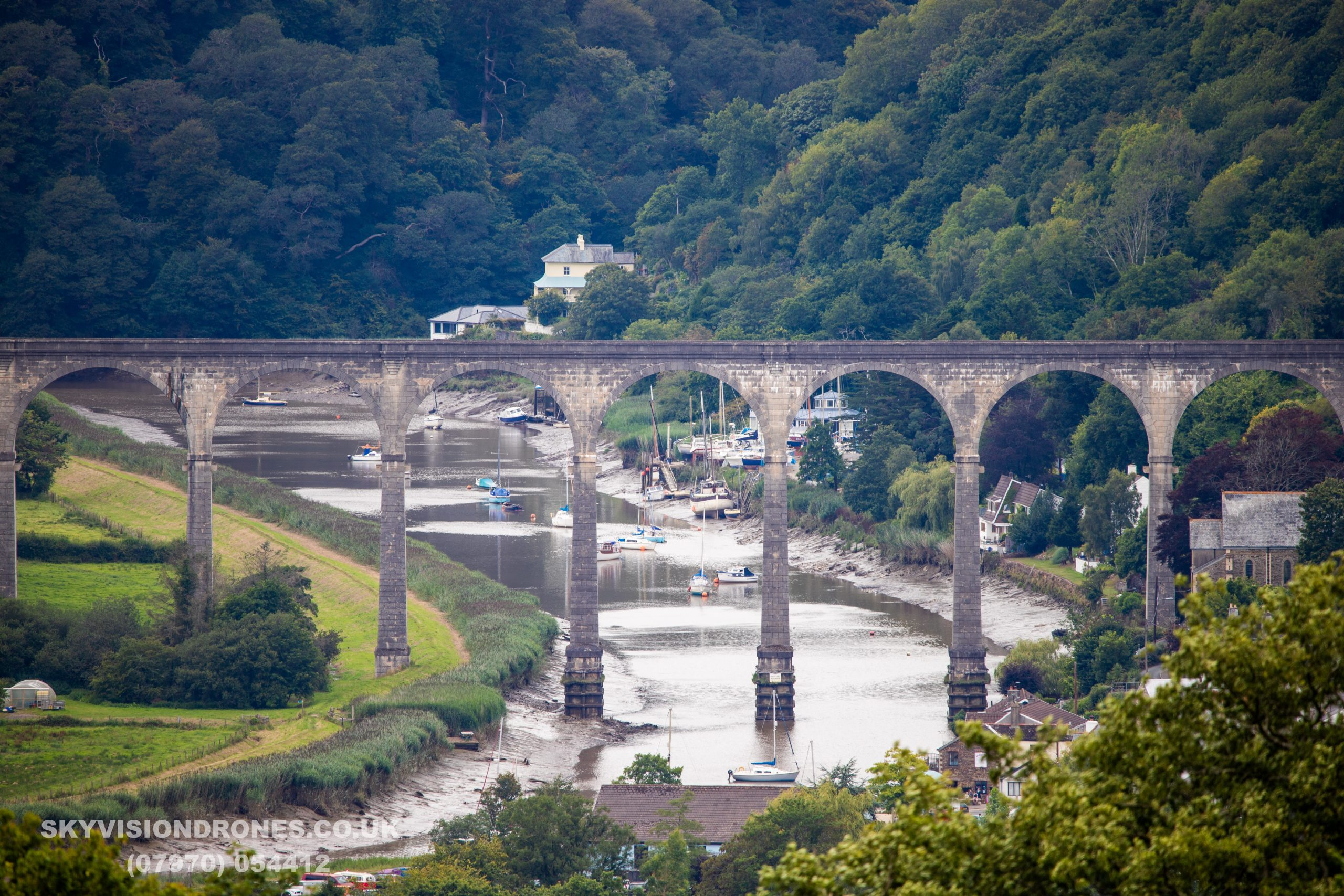 Calstock Viaduct on a fine day. Visit Tamar Valley. Thans Kevin Hampton for hte picutre